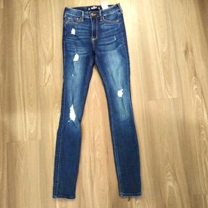 Hollister High Rise Super Skinny jeans sz 0L